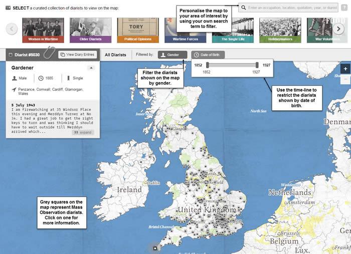 Take A Tour Map Mass Observation Online Adam Matthew Digital - Digital maps online